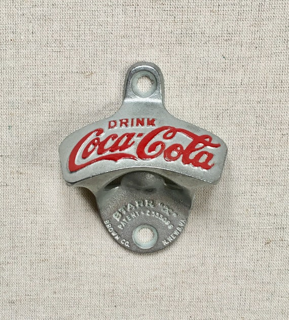 Coca Cola Bottle Opener Collectible Vintage Brown C0 Metal Starr X Wall Mount Made in Germany