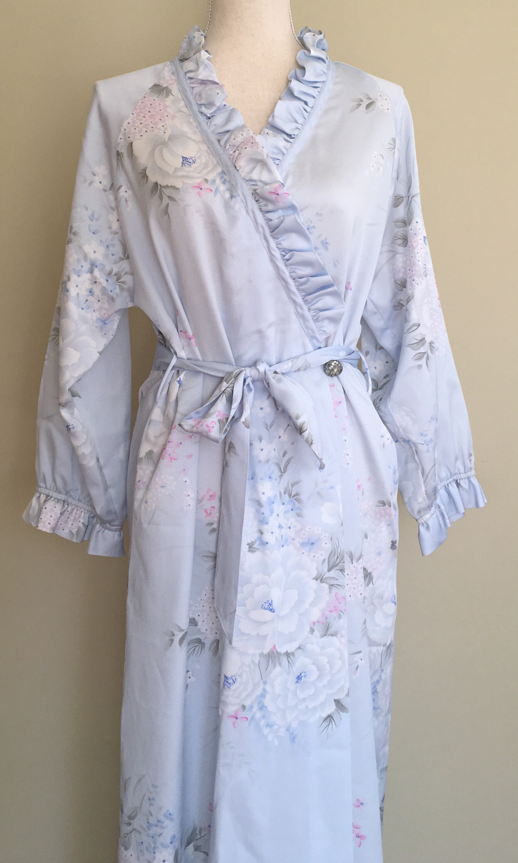 Long Christian Dior Robe Nightgown Dressing Gown Floor Length ...