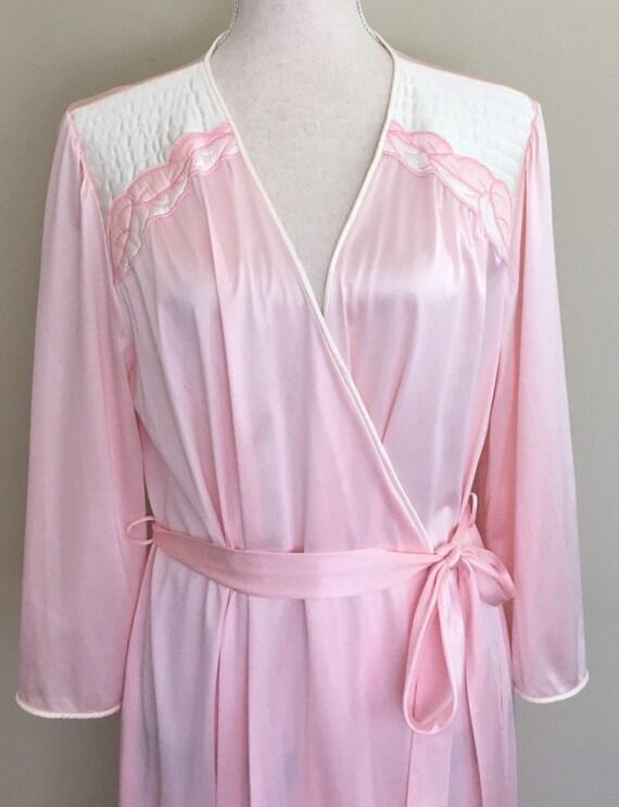 Vanity Fair Pink Robe Nightgown Dressing Gown Floor Length  1ea875ca5