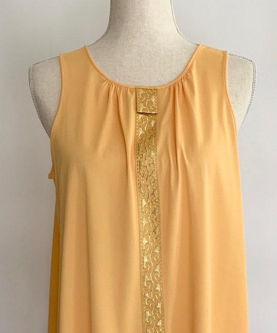 Maxi Dress Slip Long XS S Nylon Lorraine Pale Yellow