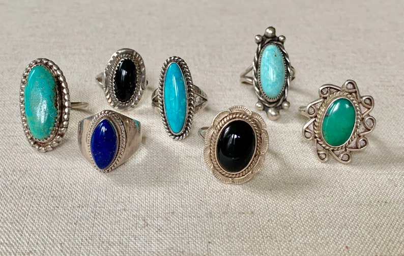 Black Agate Lapis Clasp Turquoise Sterling Oval