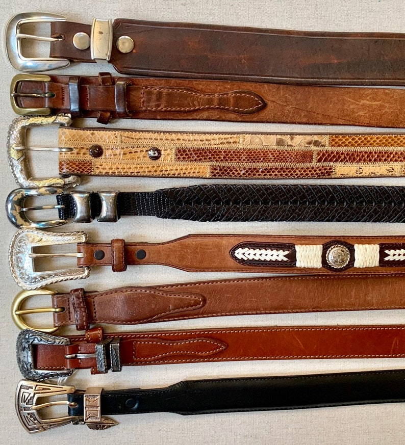 Men/'s US Steer Hide Leather 38MM Belt With Brushed Silver Buckle Made In The USA