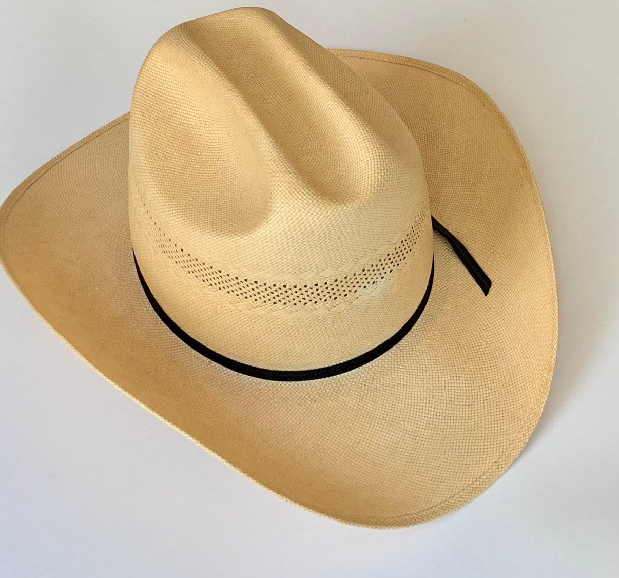 575f3419 Tony Lama Cowboy Hat Vintage Milano Hats Made in USA Cream Beige 6X ...