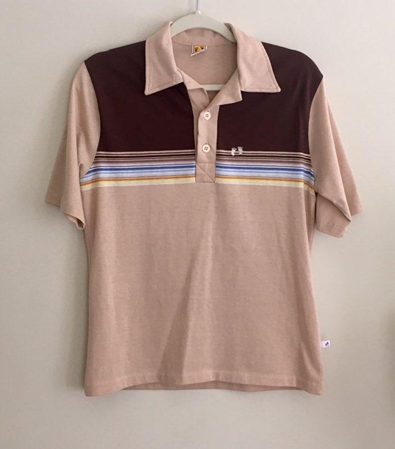 4825b94c Mens Hang Ten Shirt Vintage 70s Polo Shirt Surfer Hawaiian So | Etsy