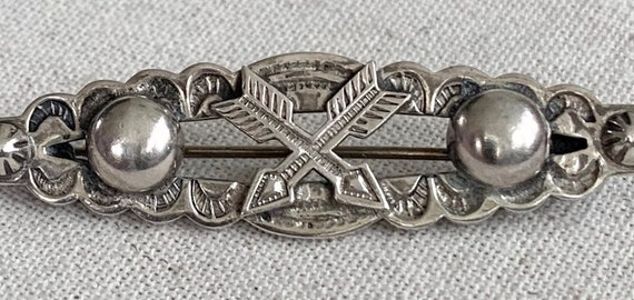 Crossed Arrows Pin Brooch Fred Harvey Era Vintage Sterling Silver Native American