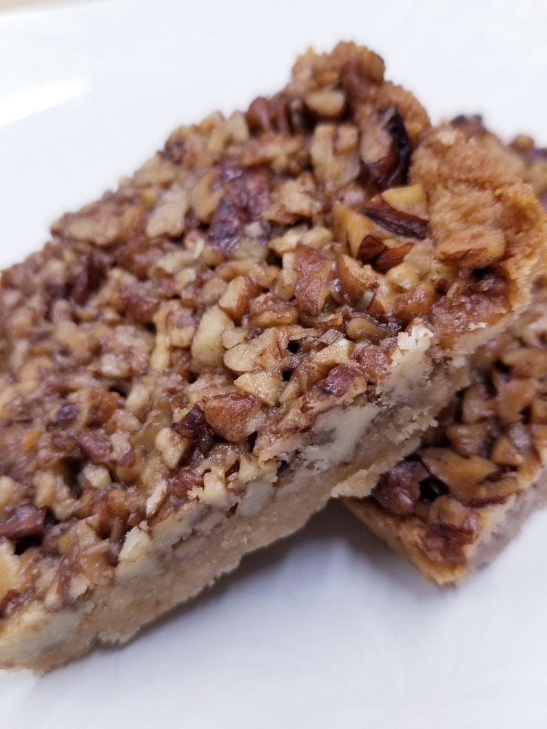 Keto Pecan Pie Bars Sugar Free Gluten Free Diabetic image 0