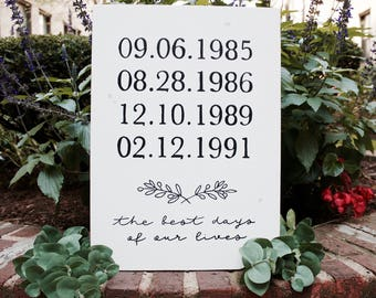 Important Dates Wooden Sign | Family Date Sign | Love Story Timeline | Important Dates Sign | Special Dates | Wedding Gift | Anniversary