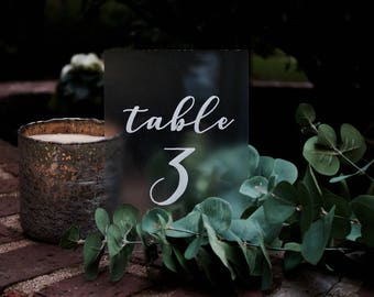 Table Numbers | Wedding Table Numbers | Wedding Signs | Clear Table Numbers