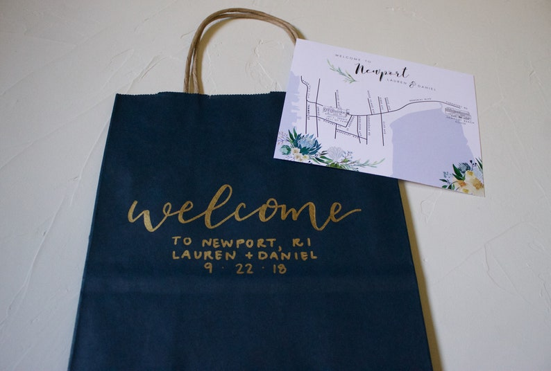 Bridal Party Gift Bags Party Favor Bags Wedding Gift Bags Wedding Welcome Gift Bags Custom gift bags