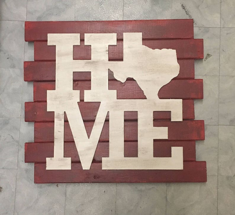 Home Texas Wooden Sign