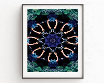 Downloadable art psychedelic kaleidoscope photograph, affordable art, decor, wall hanging, poster, printable, mac and pc, gift idea