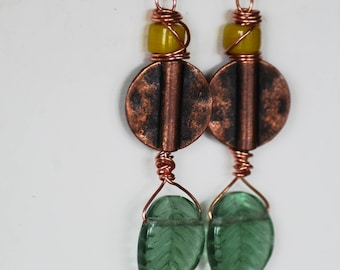 Copper and leaf dangles