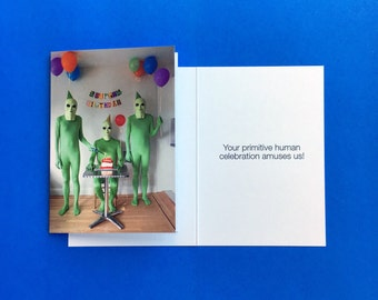 Alien Birthday greeting card