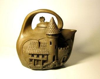 Teapot Nostalgia  Handmade Ceramic teapot Home décor Handmade Pottery Teapot Retro Tea Party Pottery décor Fine Art Stoneware