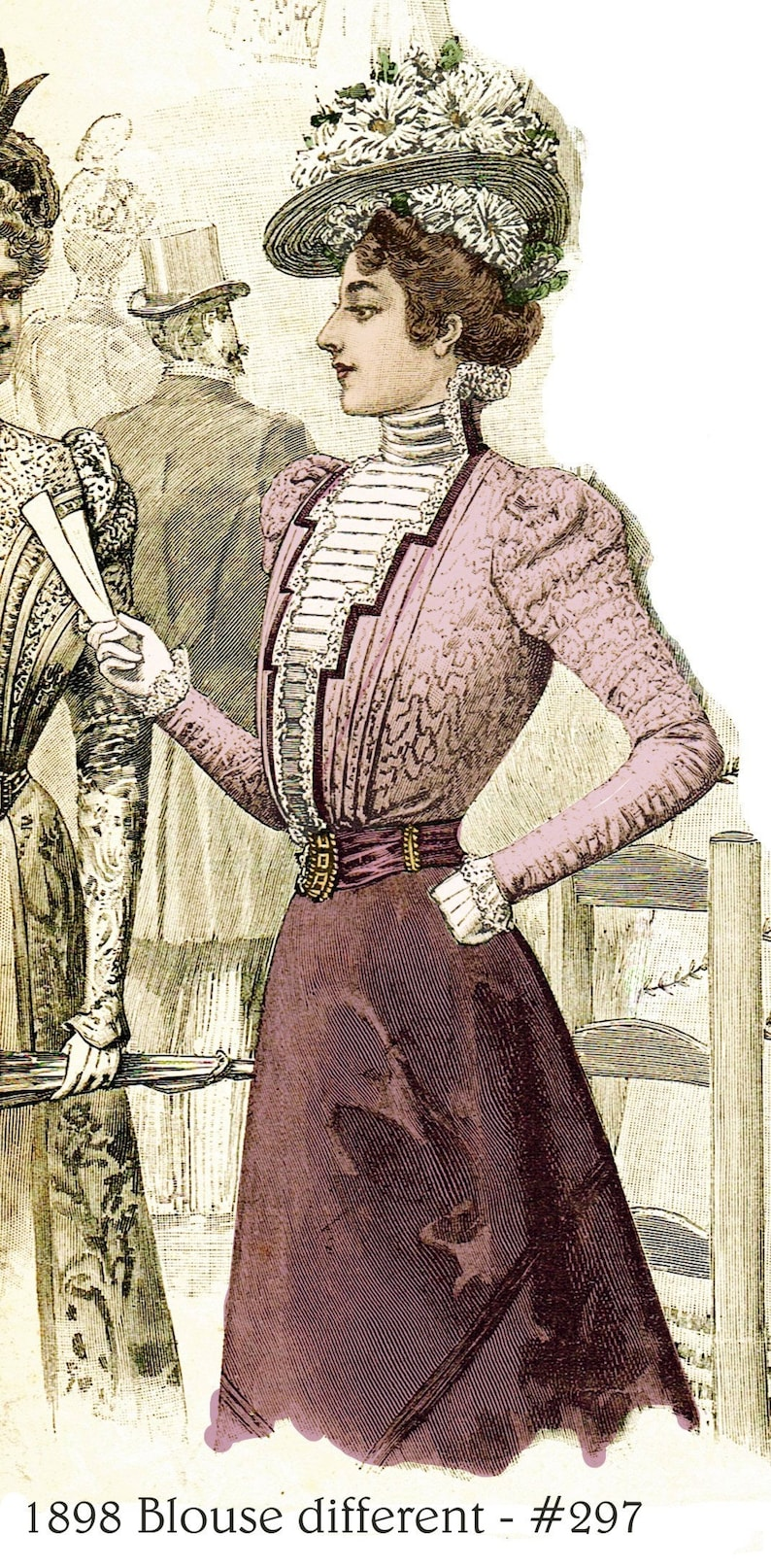 Steampunk Sewing Patterns- Dresses, Coats, Plus Sizes, Men's Patterns 1898 Victorian Blouse pattern - sized for you from antique originals - with bonus lingerie patterns and library - #297 $4.95 AT vintagedancer.com