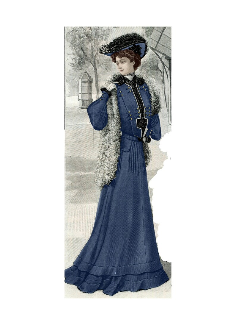 Edwardian Sewing Patterns- Dresses, Skirts, Blouses, Costumes 1903 Edwardian Tailored Walking Suit pattern - Sized for you - from antique original pattern. Includes bonus lingerie pattern. #071 $9.95 AT vintagedancer.com