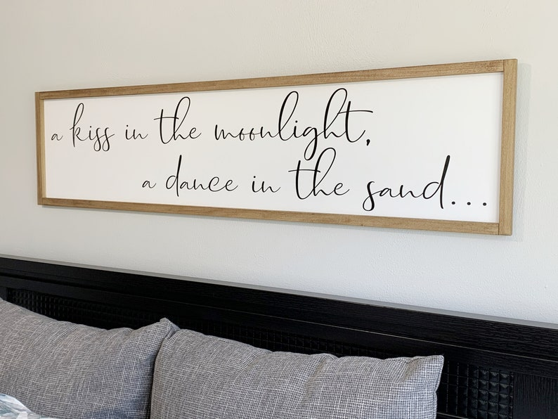 romantic beach sign above the bed sign Big beach sign beach headboard sign beach house decor farmhouse beach sign modern beach house