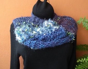 Blue short Infinity Scarf