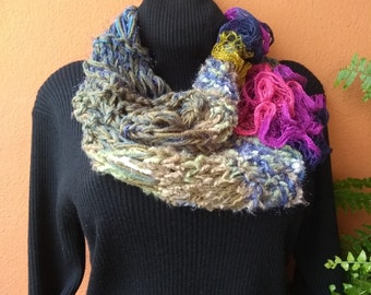 Multi-color Short Infinity Scarf
