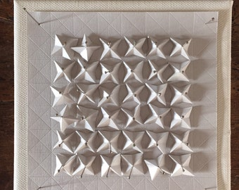 Origami Paper Art - White Paper Wall Hanging  - Limited Edition
