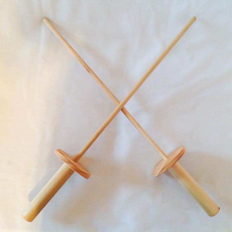 Wooden Toy Competition Length Fencing Sword Set, Handmade Child's Toy with  a All Natural Food Grade Finish