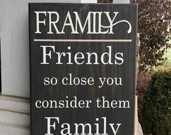 Framily wooden sign