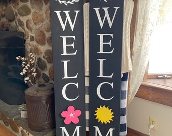 Interchangeable front porch welcome sign
