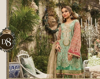 9d57688e9a9 MARIA B Eid 2019 Embroidered Suit
