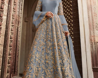 d10ed779f8 KARMA DESIGN-2 Stunning Indian Gowns in trendy colours