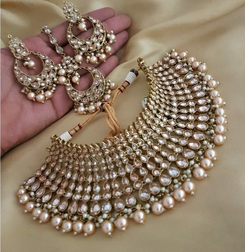 AMANII -Latest Indian Bollywood Fashion Costume Jewellery Chocker Set|  Indian Jewellery | Indian Jewelry | Wedding Necklace sets