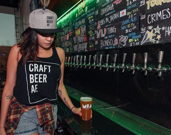 Craft Beer AF Ladies Tanks
