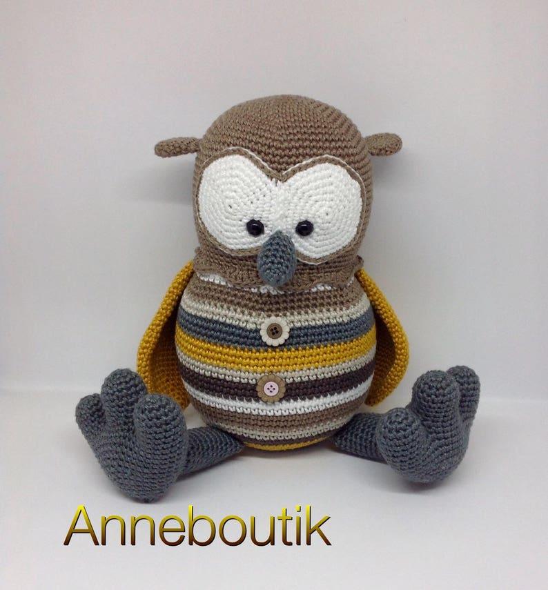 Sur Commandehibou Chouette Doudou Au Crochet Amigurumi