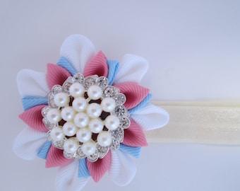 Pink and blue Elastic Headband