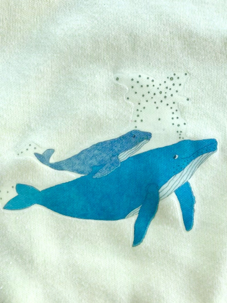 Whale Song Baby Onesie Short Sleeve 100/% cotton