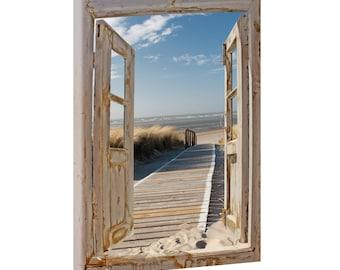 Top Bilder Kunstdruck auf Leinwand XXL Strand Meer Nordseestrand 100cm*100cm 301