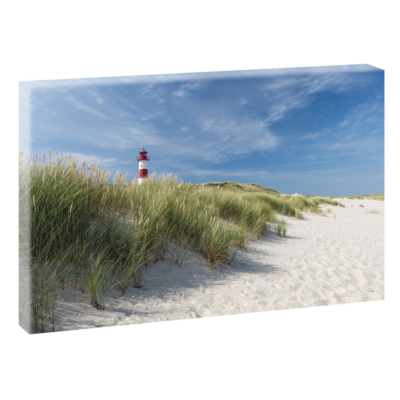 leuchtturm auf sylt bild strand meer keilrahmen leinwand etsy. Black Bedroom Furniture Sets. Home Design Ideas