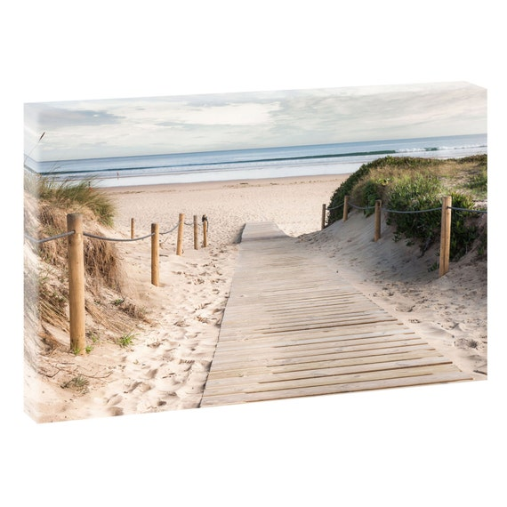 weg zum strand bild strand meer keilrahmen leinwand poster xxl etsy. Black Bedroom Furniture Sets. Home Design Ideas
