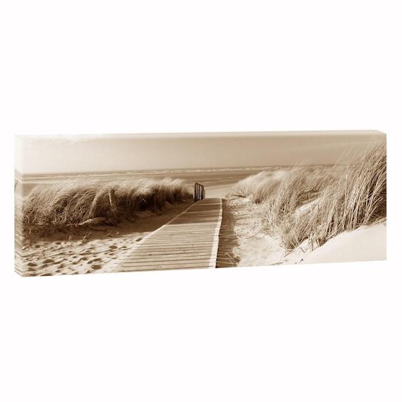 Am Strand Bild Meer Kunstdruck Leinwand Nordsee Poster XXL 100 cm*65 cm 619 se