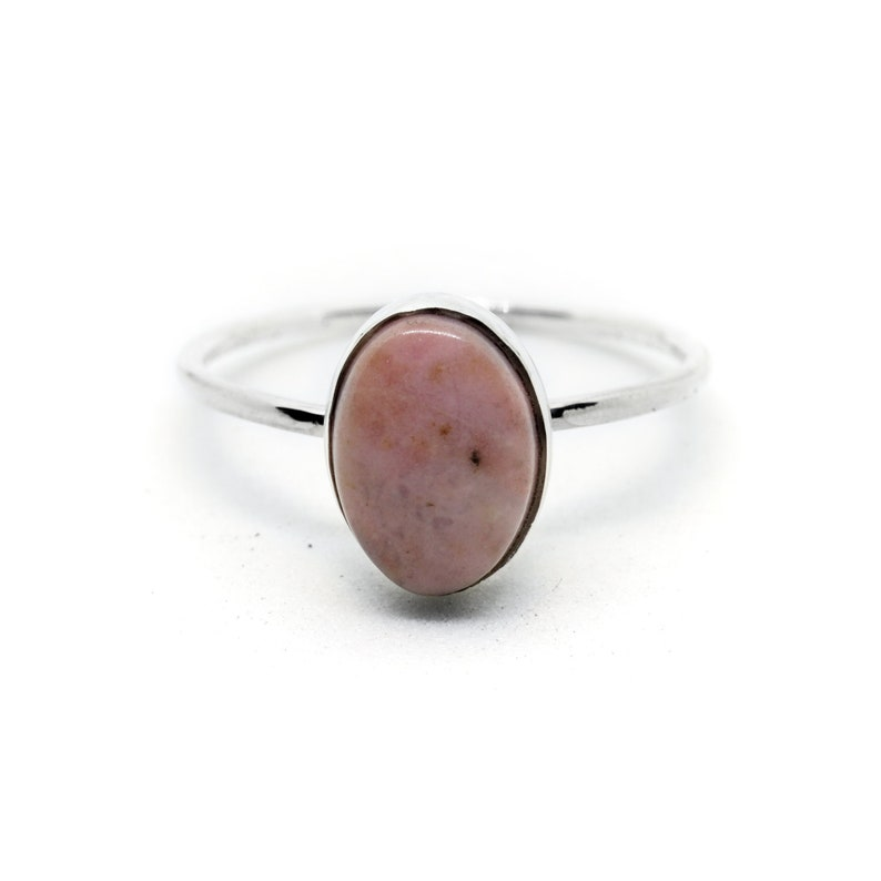 ee956c6dd88d8e Rhodonite Sterling Silver Ring Pink Black Stone