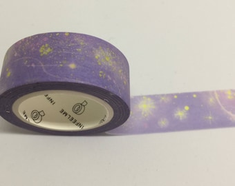 Purple Sky and Stars Washi Tape
