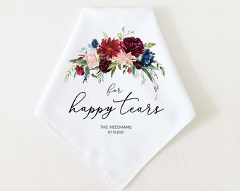 PICK YOUR GRAPHIC! Wedding Favor for Mom, Grandma, Wedding Handkerchief Gift, Wedding Gift for Bridal Party, Personalized Thank you Gift
