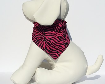 Animal print dog bandana, Over the Collar Dog Bandana
