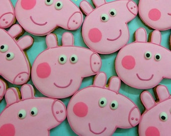 12 Peppa Pig Cookies Party Favors