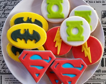 12 Super Hero Cookies Party Favors