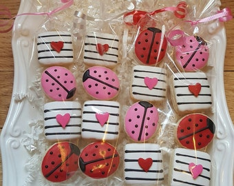 32 Mini Ladybug Cookies Party Favors