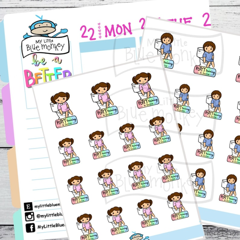 Mom Life Planner Stickers  Potty Training Stickers  Planner image 0