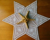 White star crochet decoration (50cm or 19.68 quot ), filet crochet, Christmas gift, table centrepiece, coffee tablecloth, coaster, Wedding decor