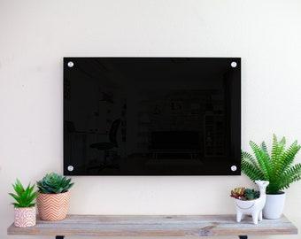 Black Dry Erase Board | Acrylic White board | Writing Board | Home School Blackboard | Home Office Decor | Message Board | Markers Included