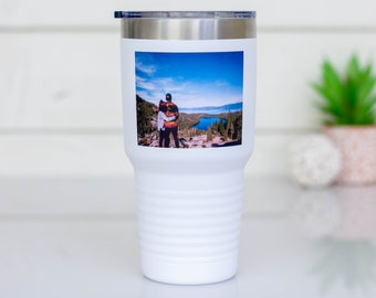 Photo Tumbler | Custom Photo Mug | Gift for Mom | Photo Gifts | Personalized Tumbler | Pet Pictures | Printed Picture | Travel Coffee Mug