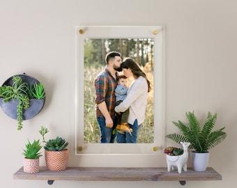Custom Acrylic Frame | Photo Floating Frame | Frameless | Picture Frame | Standoff Frame | Floater Gallery Art Frame | Poster Frame